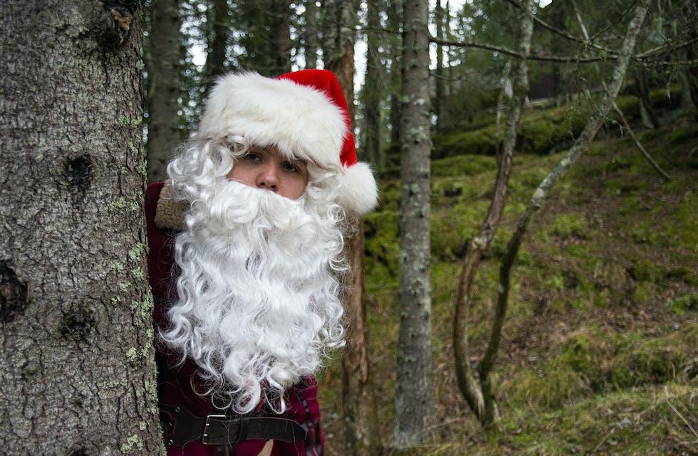 Frikult-nisse Jørgen trives godt i skogen.