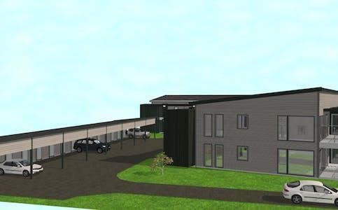 Planene for de nye leilighetene i Nergårdsgata 22B og 24 vektlegger ei lun plassering, i fin gangavstand til butikk.