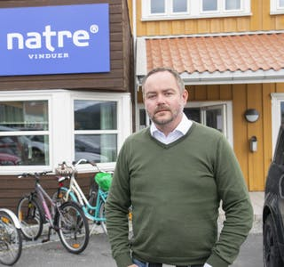 Jan Marius Reppe, produksjonsdirektør i Natre Vinduer og prosjektansvarlig for Dovista. Han gleder seg til å starte testproduksjon på Hemnesberget.