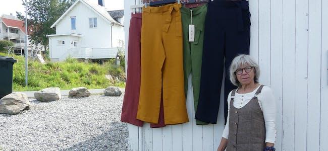 Anne Lise Larsen hadde egen utstilling på Lapphella for å ta bilder av sine nye produkter.