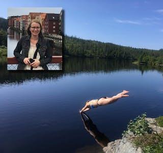 Berit Gutvik liker seg godt i både byen og ute i naturen.