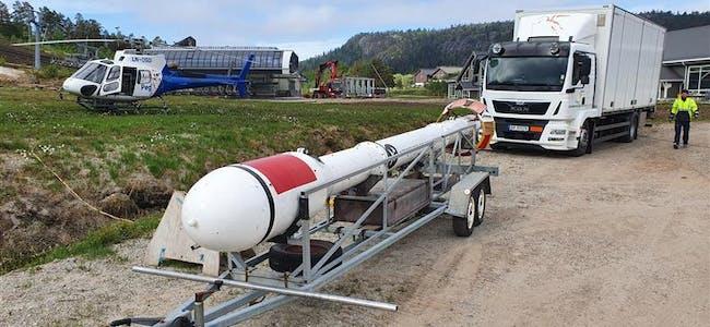 Norges Geologiske Undersøkelser (NGU) er i gang med å utføre geofysiske målinger fra helikopter over Bleikvasslia og Okstindan.