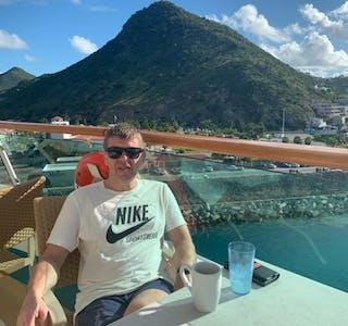 På cruise i Karibien