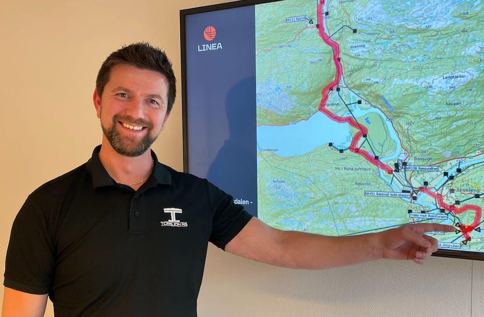 Yngve Almås Larsen i Linea inviterer til folkemøte rundt oppgraderingen av strømnettet i Røvassdalen.
