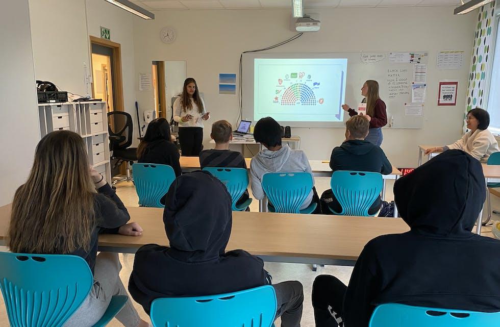 Det er kun ti elever i ungdomsskolen i Bleikvasslia i år.