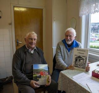 Harald Brygfjell og Dag Brygfjell presenterer to nye lokalhistoriske bøker når Oppigarden Jamtjord og Båthistorien i Hemnes slippes.