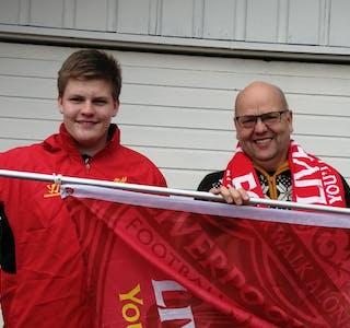 Georg Larsen og Espen Leirvik ønsker å få i gang ei lokal supporteravdeling.