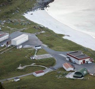 Andøya Space sett fra fjellet Andhue på Andøya.